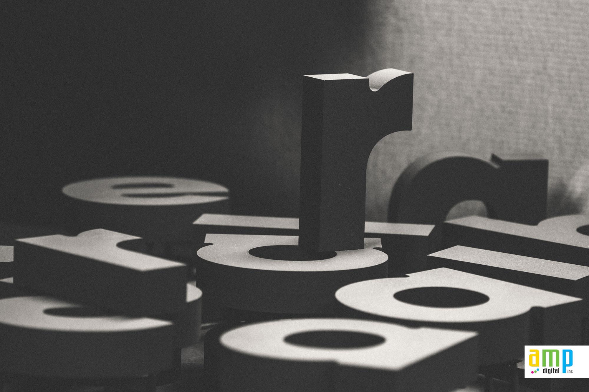 Lettres découpées 3D