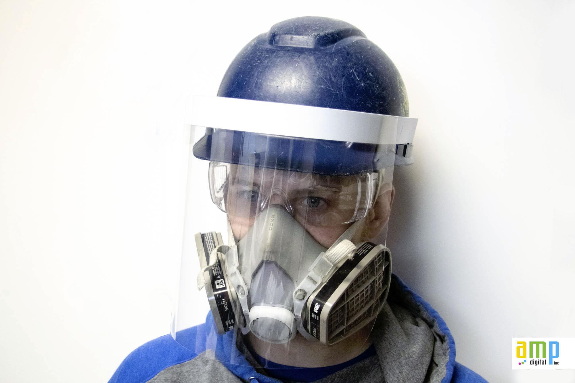 Visière protection Construction